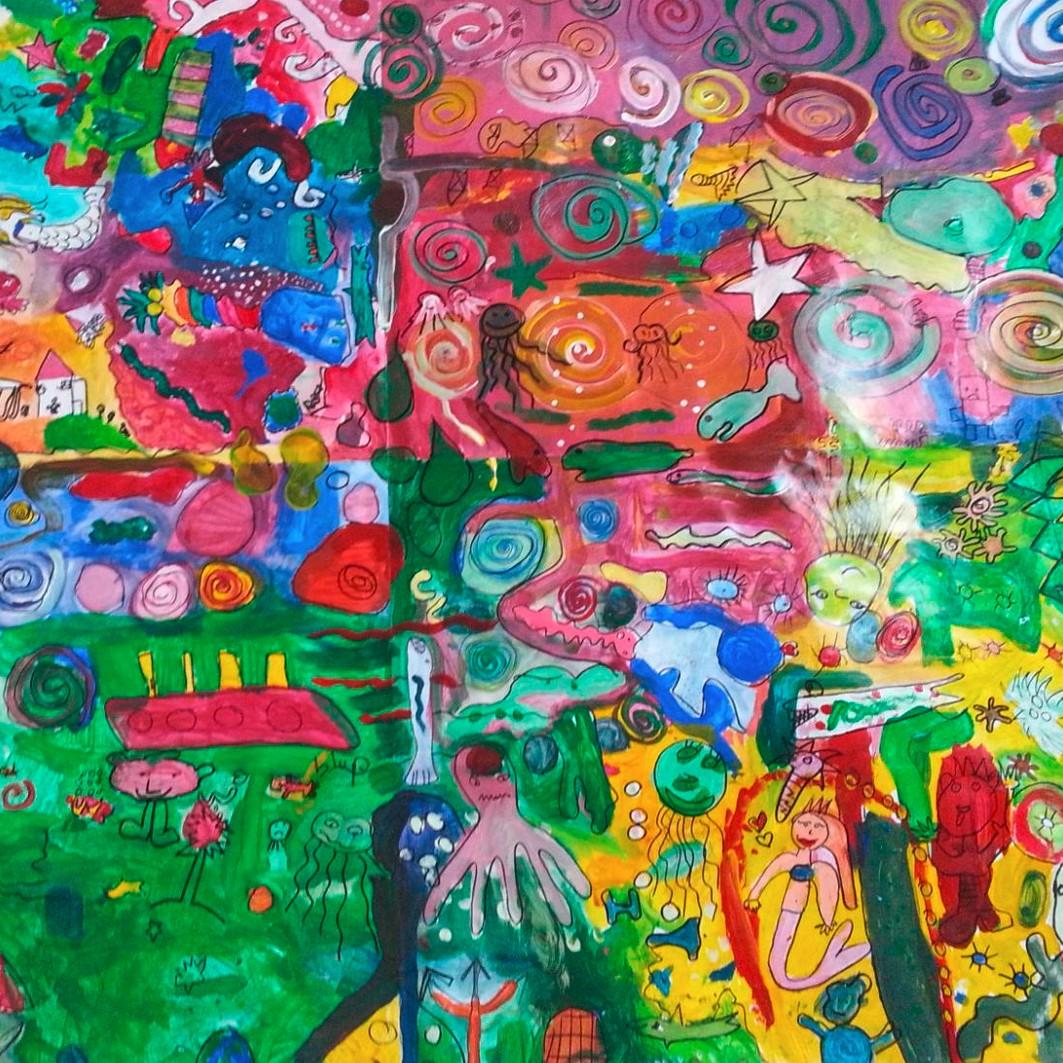 Wir sind bunt – Ein Wandmosaik